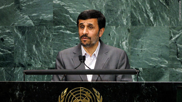 Iran President Mahmoud Ahmadinejad is on a public relations offensive in New York, addressing the session on tackling world poverty.