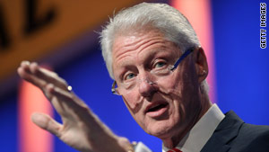 Former U.S. President Bill Clinton speaks at the annual Clinton Global Initiative in New York on Tuesday.