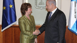 EU foreign affairs chief Catherine Ashton met Israeli PM Benjamin Netanyahu on Friday.