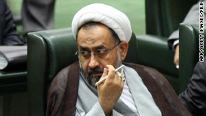 "Iranian Intelligence Minister Heydar Moslehi, seen in a 2009 photo, announced the arrests of ""nuclear spies."""