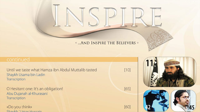 "The second issue of ""Inspire"" magazine includes an article on using pickup trucks to ""mow down the enemies of Allah."""