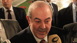 Former Iraqi Prime Minister Ayad Allawi says Iran is trying to destabilize the Middle East.