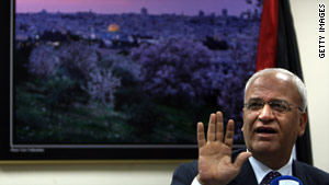 By hosting the conference, Israel seeks de facto recognition of its illegal annexation of East Jerusalem, says Saeb Erakat.