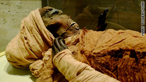 One of the royal mummies at the Egyptian Museum. For many royals diet and exercise played a part in death.