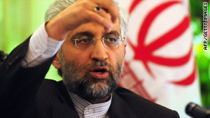 Jalili told EU officials he was prepared to meet to discuss Iran's nuclear program.