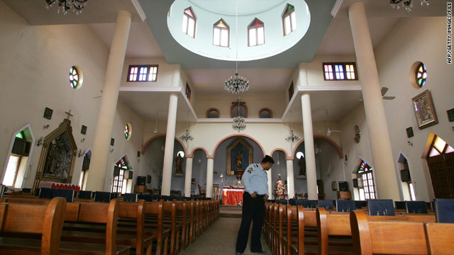 File photograph from 2008 shows the interior of the Catholic church in Baghdad where gunmen took hostages.