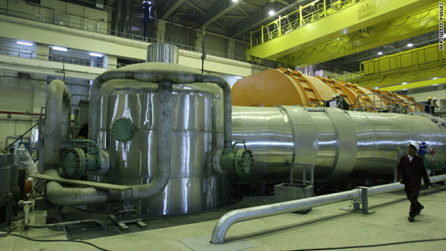 The inside of the reactor at the Russian-built Bushehr nuclear power plant in southern Iran.