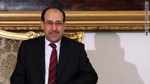 Iraqi Prime Minister Nuri al-Maliki, pictured, has been jockeying for power with Ayad Allawi since the March 7 elections.