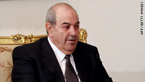 "Ex-Iraqi Prime Minister Ayad Allawi says he won't accept a government role. ""I will not be a part of this theater,"" he says."