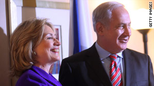 Palestinians have objected to agreements that Benjamin Netanyahu reached in talks with Hillary Clinton in New York.