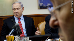 Israeli Prime Minister Benjamin Netanyahu meets with his cabinet Sunday ahead of settlement talks with the U.S.