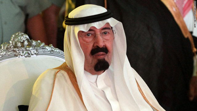 King Abdullah, 86, has been suffering from back pain due to a blood clot, a Saudi government official says.