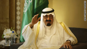 King Abdullah has ruled oil-rich Saudi Arabia since 2005.