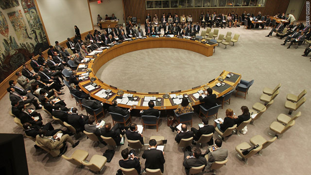 The U.N. Security Council meets after voting to adopt new sanctions again on Iran on June 9, 2010 in New York.