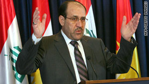 Prime Minister Nuri al-Maliki plans to present his new Cabinet to parliament Monday for approval.
