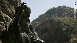 The Qadisha Valley in Lebanon is famous for its ancient cave chapels, hermitages and monasteries.