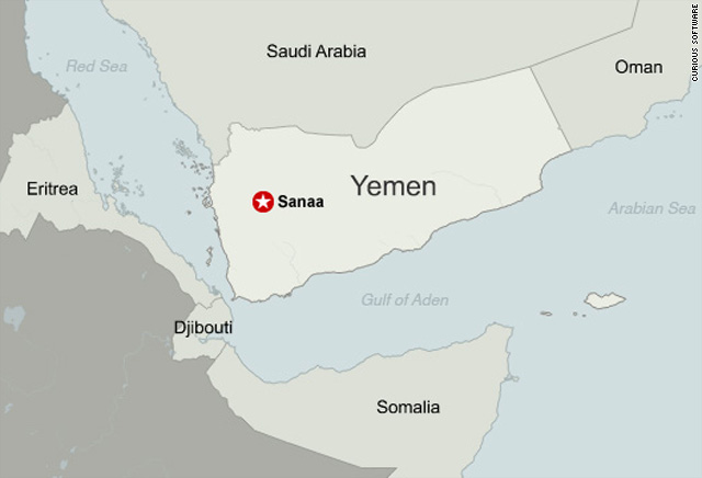US Britain Close Embassies In Yemen CNNcom - Us embassy in yemen map