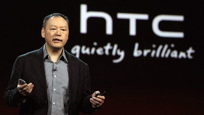 HTC CEO Peter Chou speaks at the Consumer Electronics Show in Las Vegas.