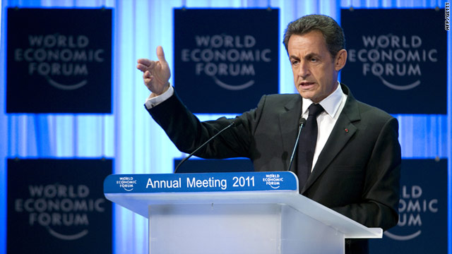 French President Nicolas Sarkozy said France and Germany would never allow the struggling euro to fail.