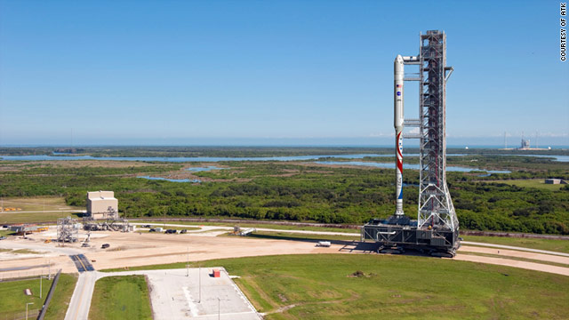 The new Liberty launch vehicle will use existing infrastructure at Kennedy Space Center, such as the Mobile Launcher shown here.