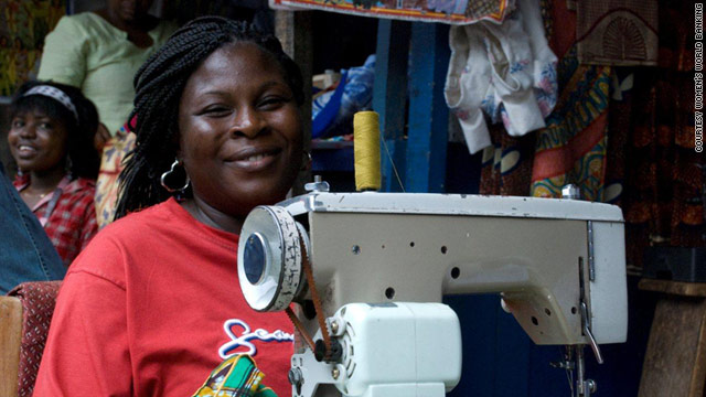 A Ghanaian women who has taken advantage of a microfinance loan.
