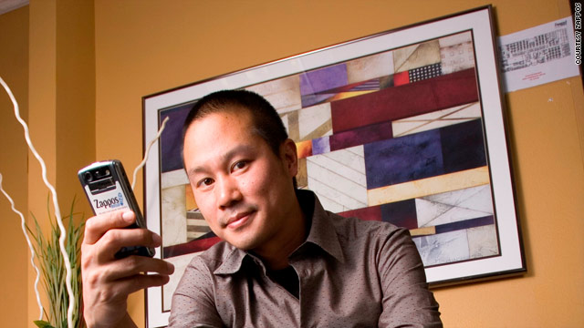 The goal at Zappos is to inspire employees to treat each other like family, says CEO Tony Hsieh.