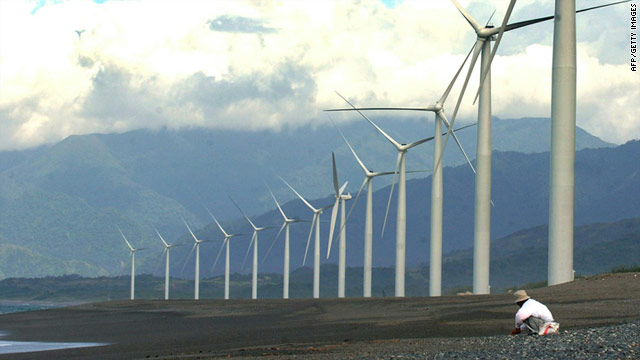 Could windfarms such as this one in the northern Philippines be the answer to Japan's future energy needs?