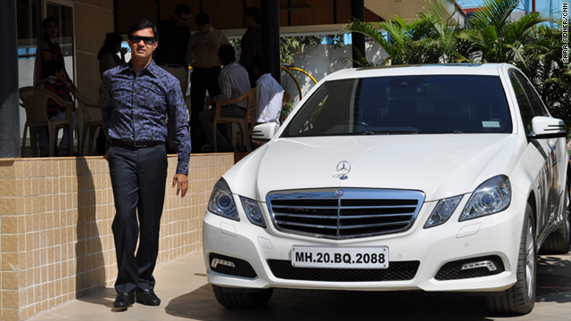 Aurangabad real estate developer Sachin Nagouri and his new car.