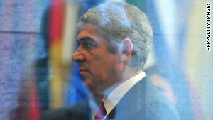 Portuguese Prime Minister Jose Socrates leaves an EU summit in Brussels on March 25, 2011.