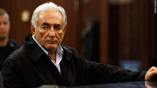 Former IMF chief Dominique Strauss-Kahn appears for his arraignment in federal court May 16, 2011 in New York City.