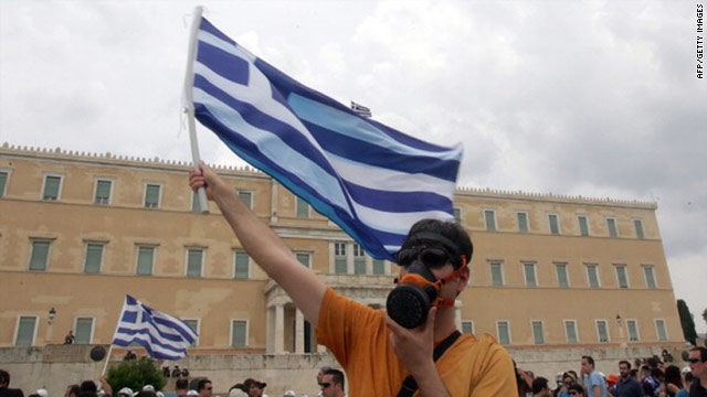 Protests have erupted across Greece over its financial crisis, with demonstrators opposed to planned austerity measures.