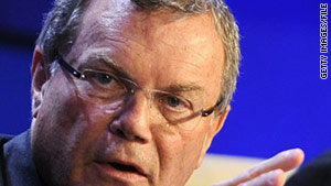 WPP CEO Sir Martin Sorrell at the World Economic Forum meeting on January 26, 2011.
