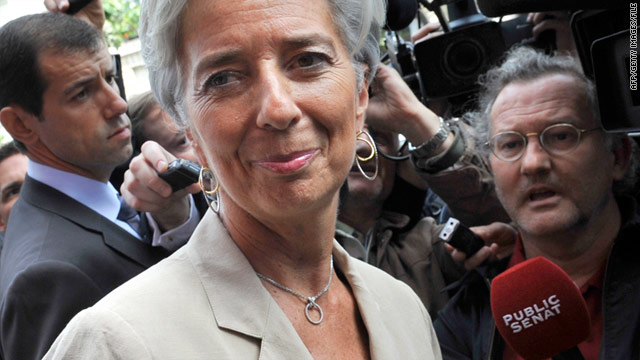 Former finance minister of France Christine Lagarde was elected to the IMF's top job last week.