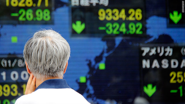 Stock markets around the world reacted to political and economic uncertainty by selling shares, causing a crash.