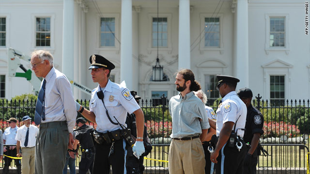 Activists opposed to the pipeline have been protesting outside the White House since August 20. Some 370 have been arrested.