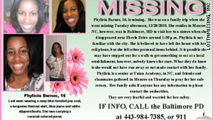 Authorities are looking for leads in the disappearance of Phylicia Barnes, 16, who went missing in Baltimore.