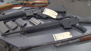 Police in Arlington, Massachusetts seized weapons from a businessman who wrote a blog post threatening lawmakers.