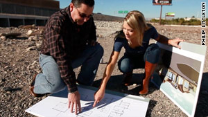 Judge William Voy shows CNN's Amber Lyon the plans to create a house for victims of sex trafficking.