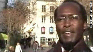 Callixte Mbarushimana, show here in a 2004 photo, is wanted for war crimes in Democratic Republic of Congo.