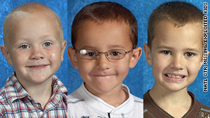 From left: Tanner, Alexander and Andrew Skelton. the brothers have been missing since Thanksgiving.