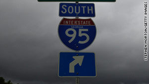 The incident snarled traffic on heavily traveled I-95 for hours on Monday.