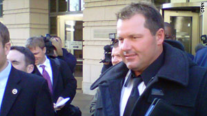 Roger Clemens departs U.S. District Court Wednesday after a hearing on a possible conflict-of-interest involving his attorney.