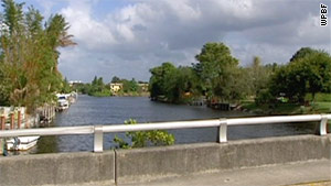 The bodies were found a  half-mile apart in the canal that separates Delray Beach from Boca Raton.
