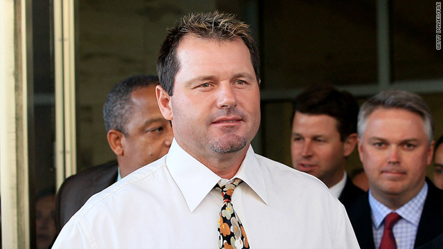 Roger Clemens, shown leaving court last year, is accused of perjury, obstruction of justice and making false statements.