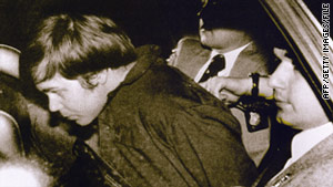 Police tackled and arrested Hinckley immediately after he shot President Reagan on March 30, 1981.