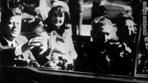 This photo was taken November 22, 1963, shortly before President Kennedy was shot to death in a Dallas motorcade.
