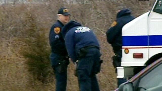 Police search for human remains on Long Island on Monday morning.