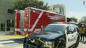 Mechanical failure in a building near a Santa Monica, California, synagogue caused an explosion, say officials.