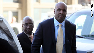 A sentencing date will be set for baseball's home run king, Barry Bonds, next month.