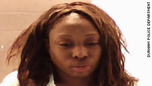 Police say the stabbing occurred in an apartment shared by the victim and Crystal Mangum. She is being held without bail.